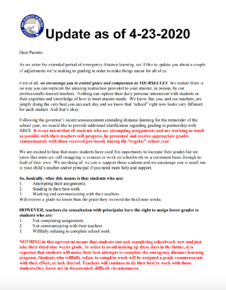 District Update Letter