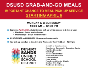 DSUSD Grab and go meals